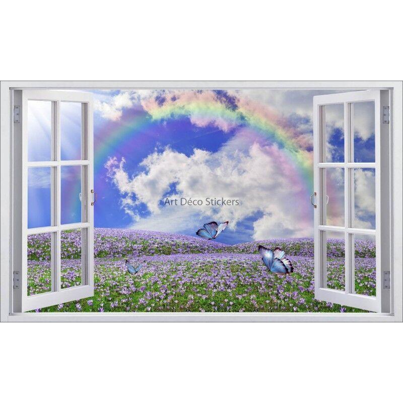 Aufkleber Fenster Deko Regenbogen Ref 5398 5398