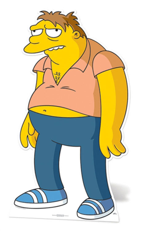 Barney Gumble The Simpsons Affiche Debout Grandeur Nature Découpée Barnard