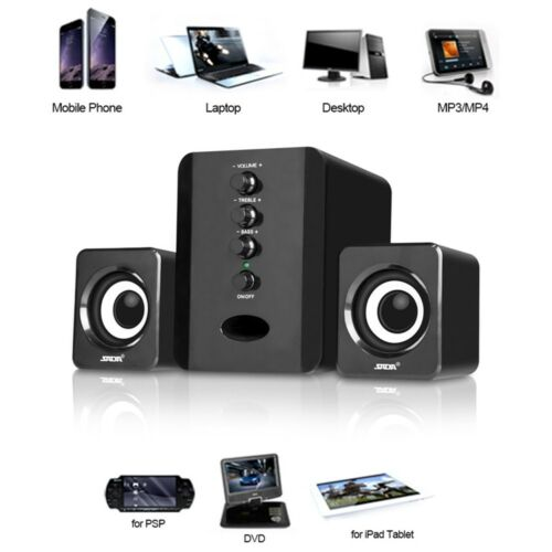 Multimedia Stereo Computer Speakers System USB Powered Portable For Laptop PC