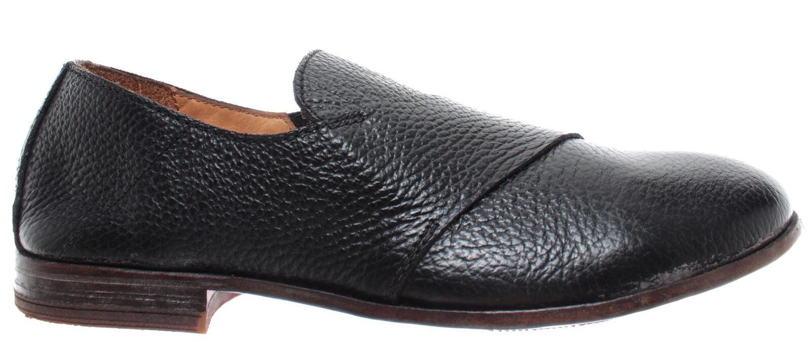 MOMA 43804-Y2 Vitello Vitello Vitello negro Zapatos Mujer Slip On Piel Negro Hand Made  New  disfrutando de sus compras
