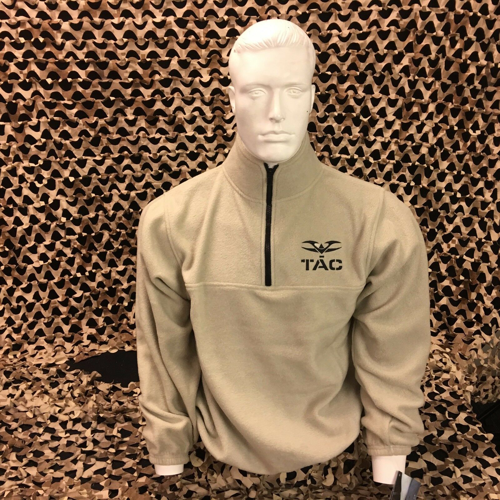 NEW  Valken Fleece Collared Sweatshirt - Tan - Small  online discount