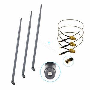 3-9dBi-RP-SMA-2-4G-5-8G-WiFi-Antennas-3-12in-U-fl-Cables-Mod-Kit-Mini-PCIe-New