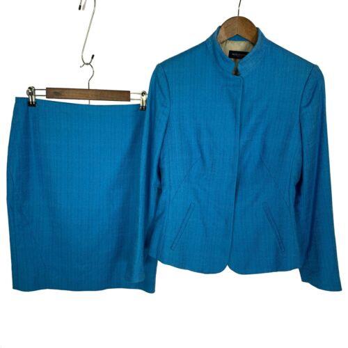 Italian Piazza Sempione Linen Skirt Suit - Blazer