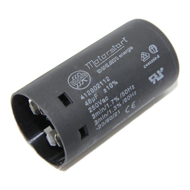 Condensador Para Arranque Motores 4.12.80.2.410 100uF 250 V Ø45.5x84mm DUCATI ENERGIA