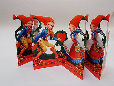 Scandinavian Swedish Cut Out Fold Out Table decoration Artelius Dancers