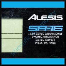 Alesis SR16 firmware OS upgrade: version 1.04