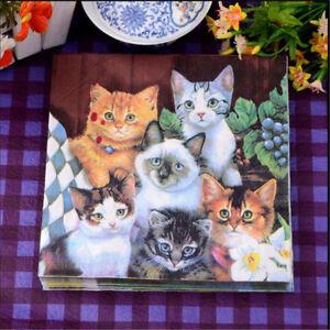 Cats-Paper-Napkin-Festive-Party-Tissue-Napkin-Wedding-Party-Baby-Shower-Decor-P0