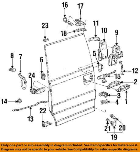 FORD OEM 86-97 Aerostar Side Sliding Door-Roller E69Z1125001A