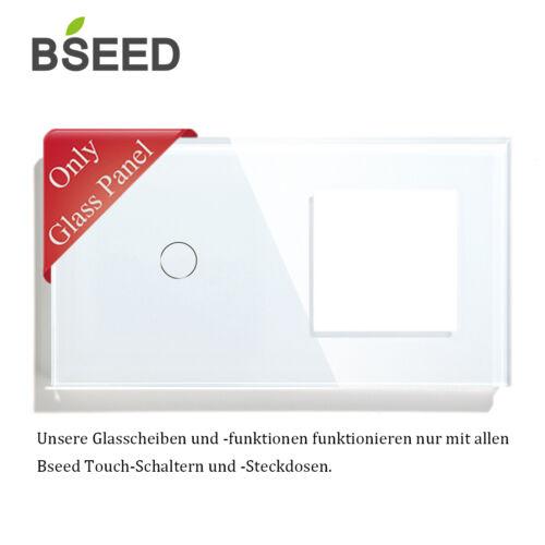 BSEED WLAN Lichtschalter WIFI Wand Steckdosen Glas Touch Dimmer Schalter uvm WEI