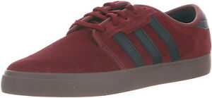 Adidas SEELEY Burgundy Navy Brown Discounted (307) Skateboarding Men's Shoes