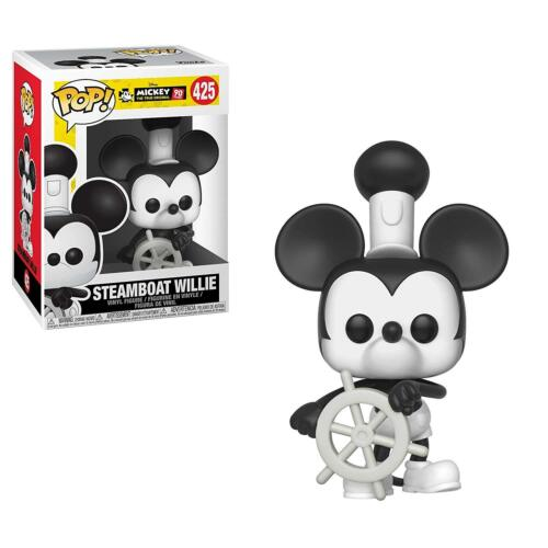 Disney #425 Vinyl Figur Funko Mickey Mouse Steamboat Willie 90 Years POP