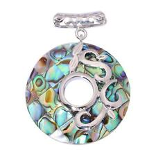 New Style Natural Abalone Shell 18K White Gold Filled Girl Jewelry Pendant FD793