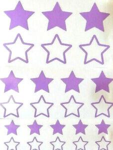 Farbe Weiß 24 Sterne Aufkleber//Sticker Auto,Fahrrad,E-Bike,Motorrad,Helm