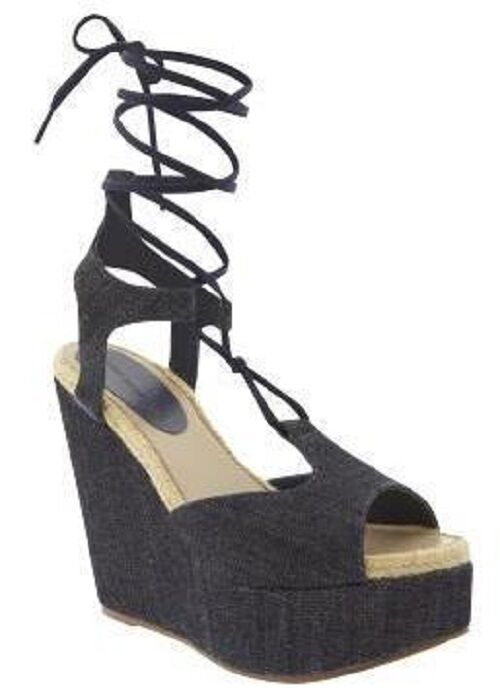 Gap 9 Nib 110 Design Editions By Pierre Hardy Lace Up Wedge Platform Sandales 9