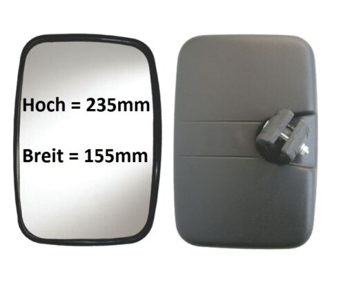Rétroviseurs extérieurs camion Grand Angle Miroir complémentaire de culture de remplacement excavateurs 235x155 ø16-24