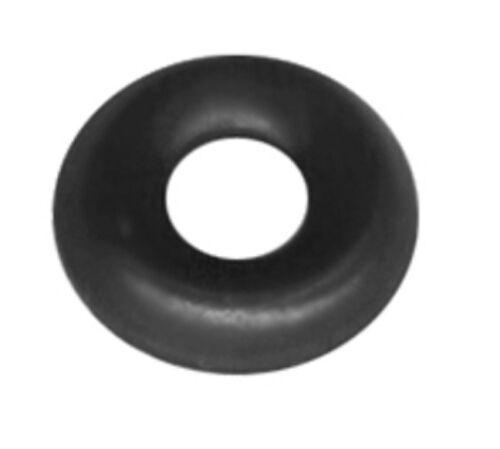 100PACK RAISED WASHER #8 SCREW TRIM RING BLACK OXIDE # TR8-100