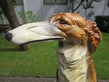 BORZOI antique russian wolfhound art deco statue flapper girl vtg seattle dog