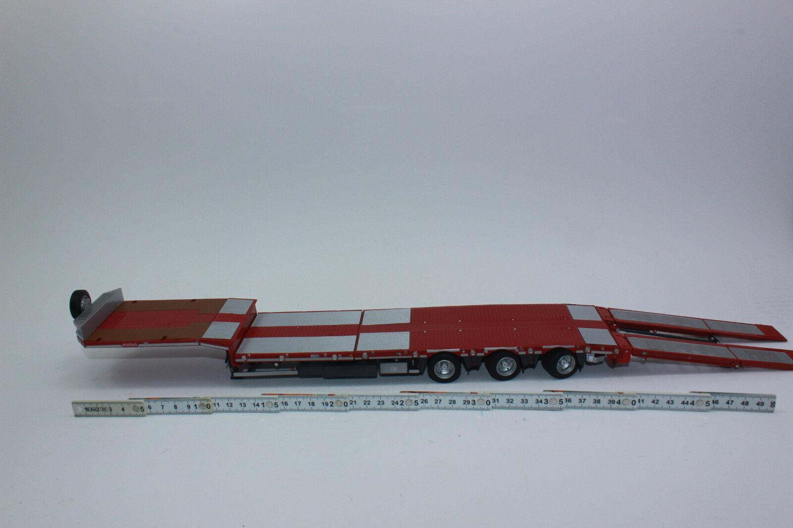 Marge 1813-01 remorque 3 Axe Rouge NOOTEBOOM  MCOs 48-03 NEUF avec neuf dans sa boîte  1 32  100% garantie de prix