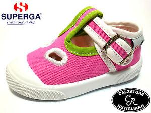Passi Fuxia Made Bambina Sandali Primi S21c449 Superga Scarpe Tela mNOvnw8y0