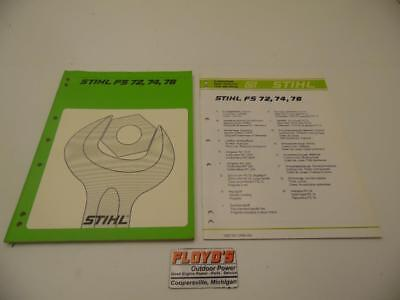 Stihl OEM FS 72, 74, 76 Manuals | eBay