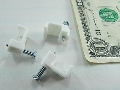 Lot 100 NSI Plastic Wire Holder Clips w//Nails Cable Wiring Carpentry Electrical