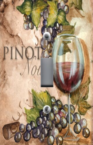 Light Switch Plate Switchplate /& Outlet Covers TUSCAN WINE GLASS PINOT NOIR