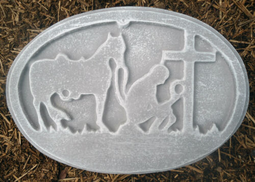 Texas prayer plaque mold concrete plaster southwest mould