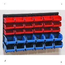 Wall Mounted Storage Rack Shelves Organizer Bench Top 30 Removable Bins  Shelf NE