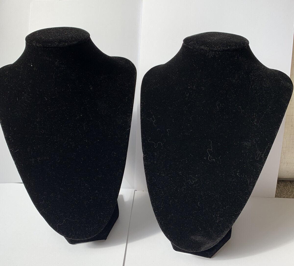 Pack Of Two Black Velvet Jewellery Stand/ Holder