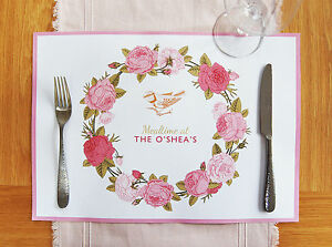 Personalised Party Paper Placemats 10 25 Or 40 Mats