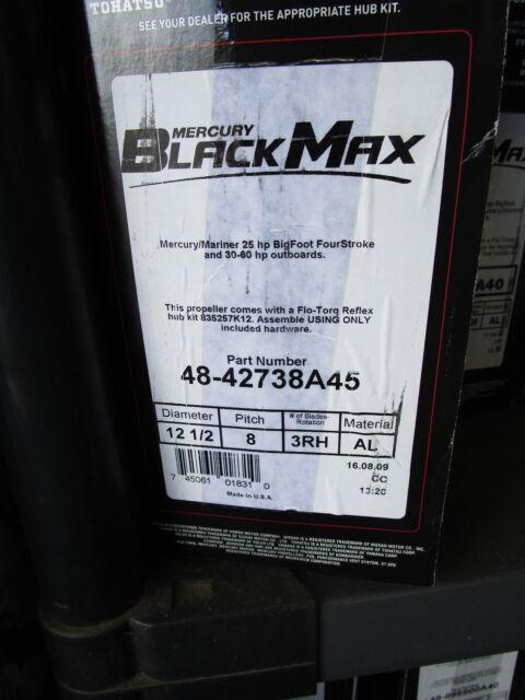 New Mercury Mercruiser Quicksilver Oem Part # 48-42738A45 Blkmx 12 1//2 X 8