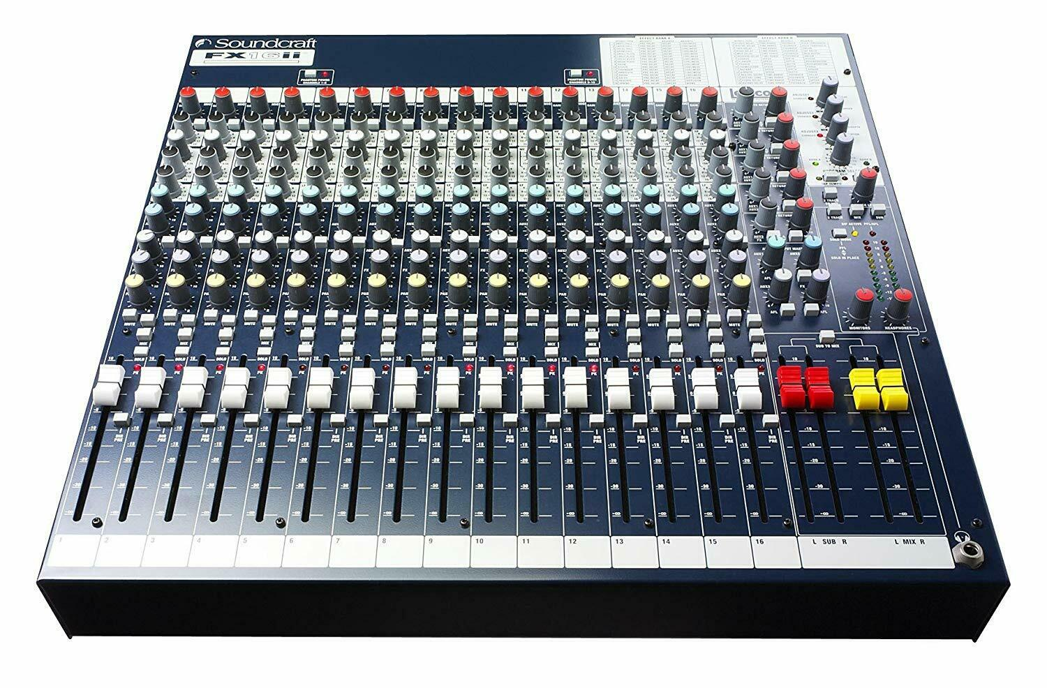 Soundcraft FX16ii compact recording live Lexicon® effects mixer Free Shipping