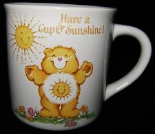 Vtg CARE BEARS Sunshine Bear Stoneware Designer Collection Coffee Mug Cup 1983