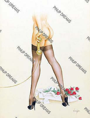 Classic Vintage Retro Vargas Pin-up Art Poster Re-print Lovely Legs Pinup A4 A3