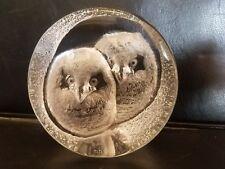 Mats Jonasson Art Glass Owls