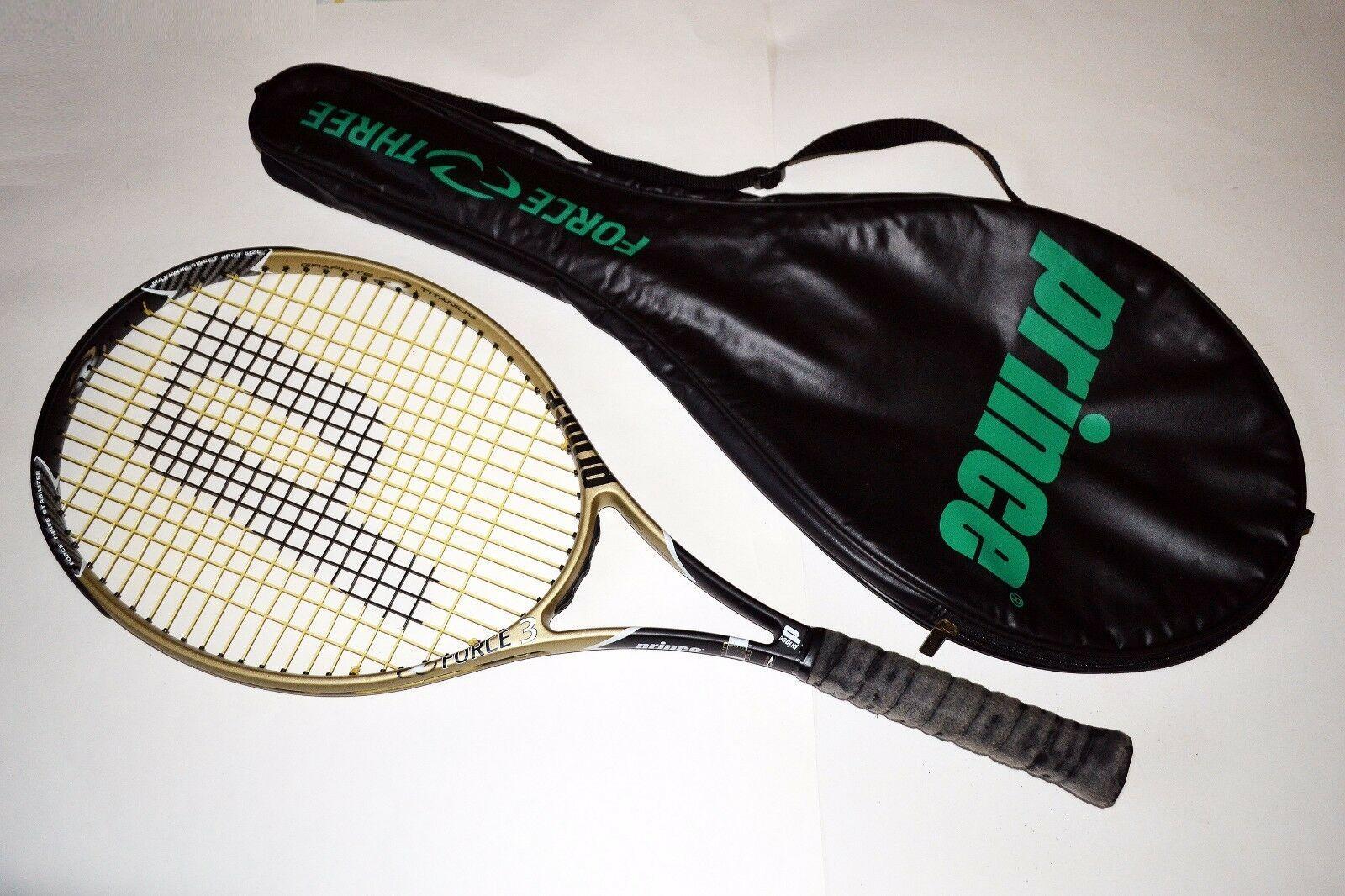 Prince Force 3 Classic TI OverTalla Titanio Grafito Tenis Raqueta Agarre 4 1 2