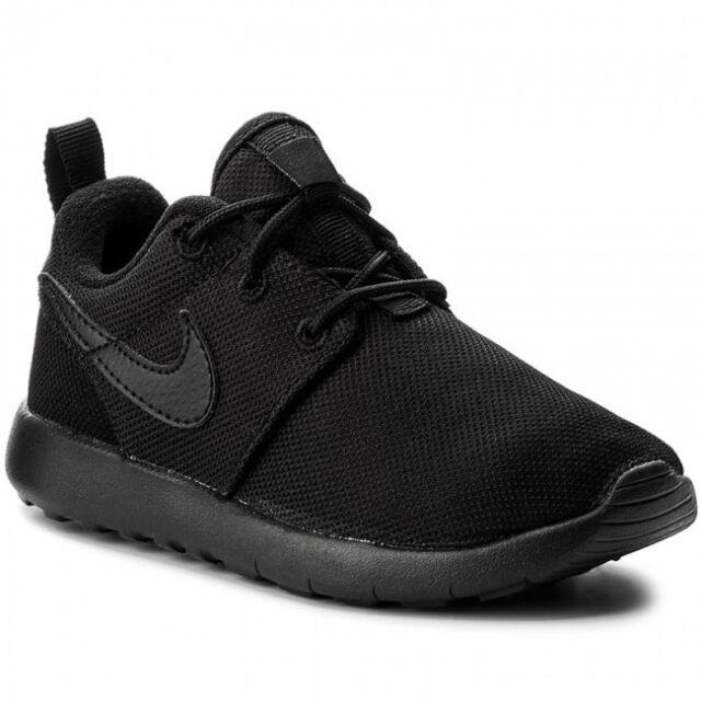 b93bc9443f7ff Nike Roshe One Little Kids 749427-031 Black Mesh Athletic Shoes ...