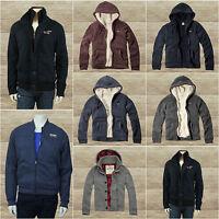 Hollister Men`s Seascape Sherpa Lined Fur Hoodie Jacket Outwear By Abercrombie