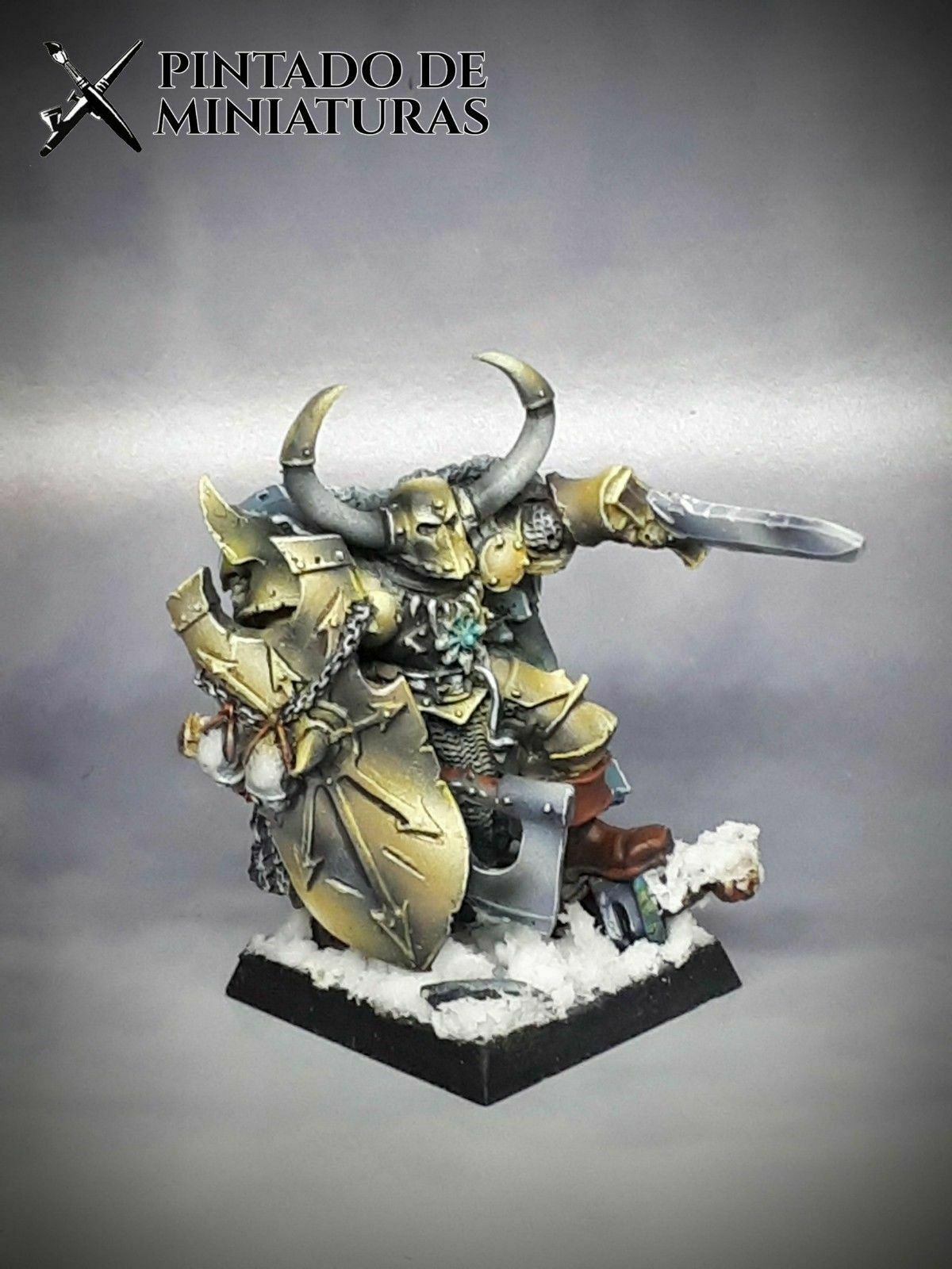 ⇨ Games Workshop Age of Sigmar AoS WARHAMMER Model Chaos Krom the Conqueror