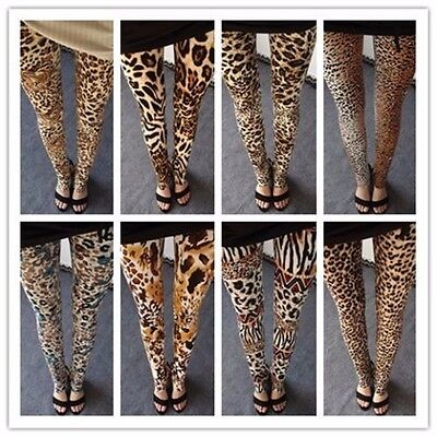 Sexy Leggings Leopard Design Leo Tiger Muster Legging Leggins Pants Attraktive Mode