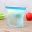 Reusable-Silicone-Kitchen-Fresh-Zip-lock-Bag-Food-Freezer-Storage-Ziplock thumbnail 19