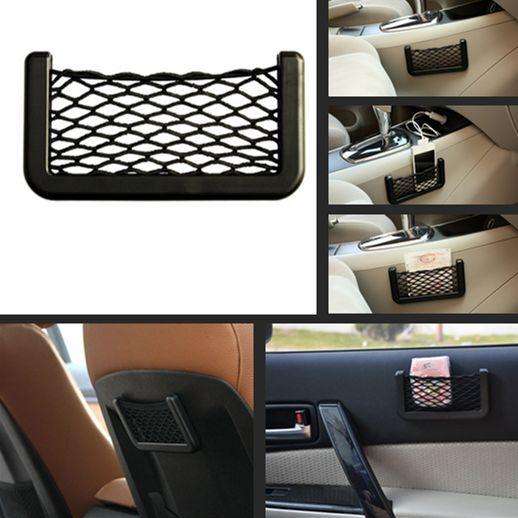 Car SUV Storage Mesh Net Resilient String Phone Bag Holder Organizer For BMW