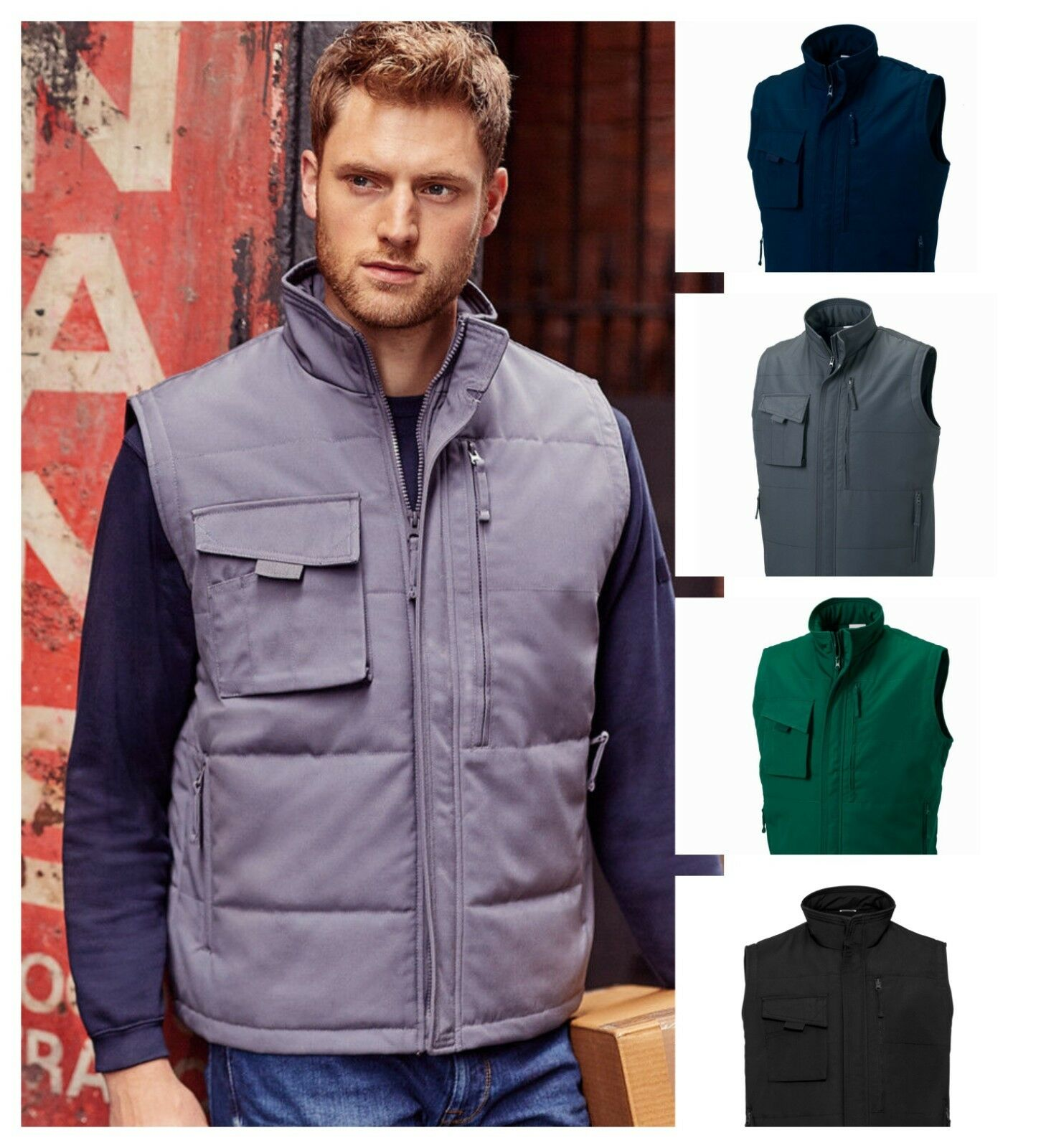 Russell - Gilet - Softshell, Zip Up, Sleeveless, Body warmer - Various Colours