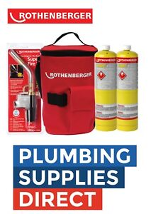 Rothenberger-Plumbers-Hot-Bag-Superfire-2-Torch-2X-Mapp-Gas-19828-Tool-Bag