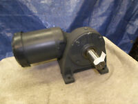 Browning Right Angle Gearmotor Worm Gear 230:1 Ratio 7.5 Rpm 1.5 Shaft