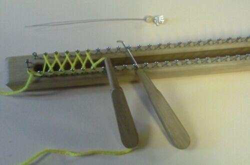 1 hilo líder de madera de haya varilla de punto Especial de punto aguja de acero acodadas