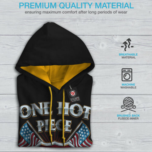 Men Black Hot American Biker Steel New Hood Hoodie Contrast gold CwHxqn1xt4