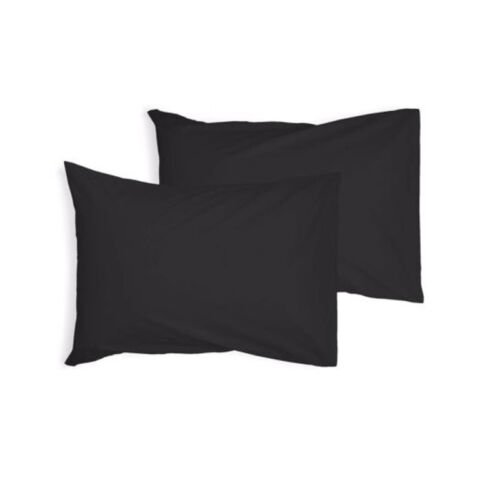 Luxury Plain Dyed Poly Cotton Housewife Pillowcases Cover Pair Pack