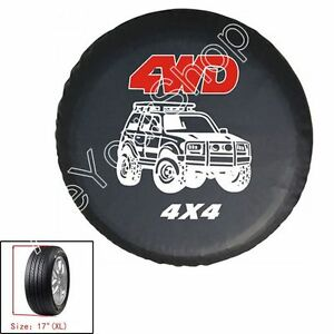 """PU Leather Spare Wheel Tire Tyre Cover Bag 16/"""" Heavy Duty Vinyl For Nissan Car"""