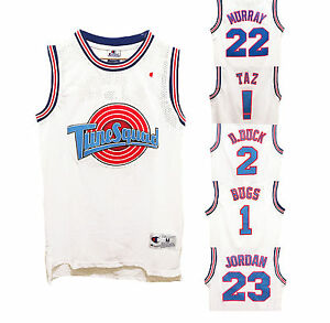 2ce71a0749f1 Space Jam Basketball Jersey Looney Tune Squad Jordan Bugs Taz Retro ...